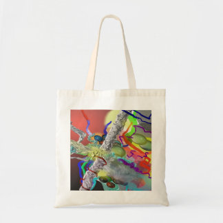 Confetti - Abstract Design in Red Tote Bag