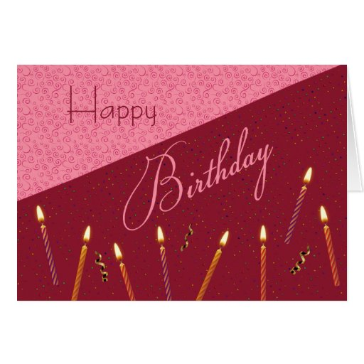 Confetti and Candles Birthday Card