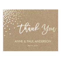 Confetti and kraft paperThank You Card
