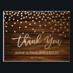 """Confetti and wood Thank You Card<br><div class=""""desc"""">Gorgeous Thank you Cards that will complement your modern wedding in a beautiful way.</div>"""