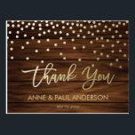 "Confetti and wood Thank You Card<br><div class=""desc"">Gorgeous Thank you Cards that will complement your modern wedding in a beautiful way.</div>"