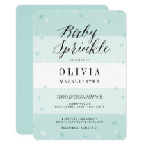 Confetti Aqua Stripes Boy Baby Sprinkle Invite