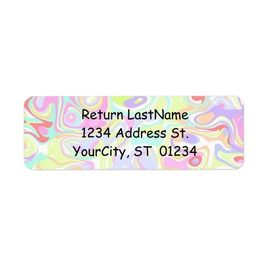 confetti avery labels with return address template zazzle com