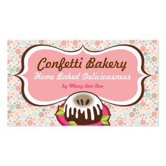 Confetti Bakery Business Cards