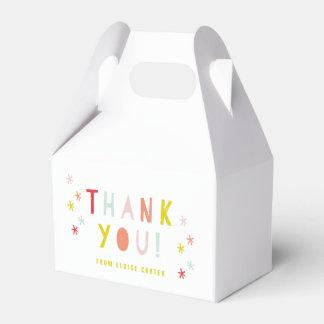 Confetti bash favor boxes
