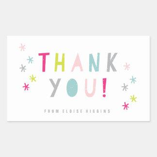 Confetti Bash | Kids party thank you sticker