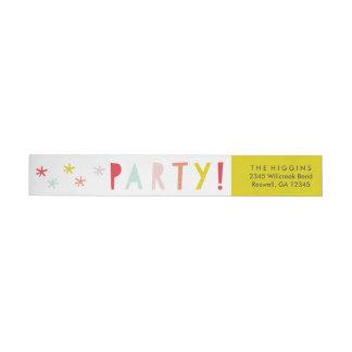 Confetti bash | Wrap around return address label
