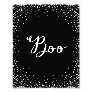 Confetti Boo | Halloween Art Print Photo Print