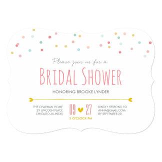 Confetti Bridal Shower Invitation