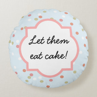Confetti Cake • Blue Buttercream Frosting Round Pillow