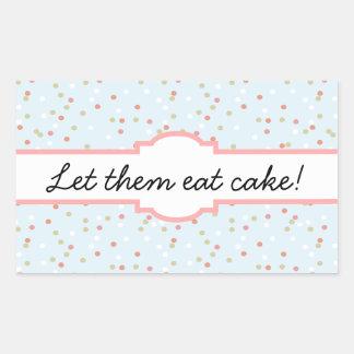 Confetti Cake • Blue Buttercream Frosting Rectangular Sticker