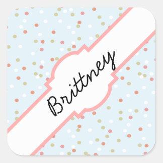 Confetti Cake • Blue Buttercream Frosting Square Sticker
