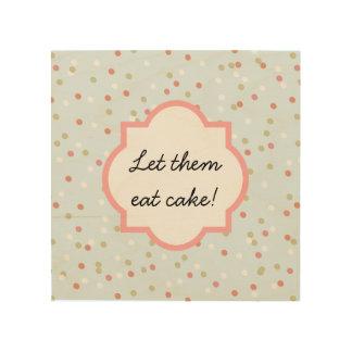 Confetti Cake • Blue Buttercream Frosting Wood Print