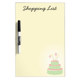 Confetti Cake • Green Birthday Cake Dry Erase Whiteboards