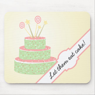 Confetti Cake • Green Birthday Cake Mouse Pad