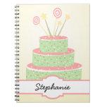 Confetti Cake • Green Birthday Cake Note Book