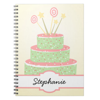 Confetti Cake • Green Birthday Cake Notebook