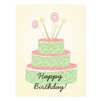 Confetti Cake • Green Birthday Cake Post Card