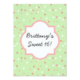 Confetti Cake • Green Buttercream Frosting Card