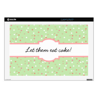 Confetti Cake • Green Buttercream Frosting Decal For Laptop