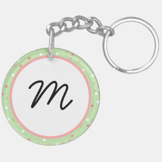 Confetti Cake • Green Buttercream Frosting Acrylic Key Chain