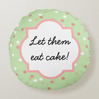 Confetti Cake • Green Buttercream Frosting Round Pillow
