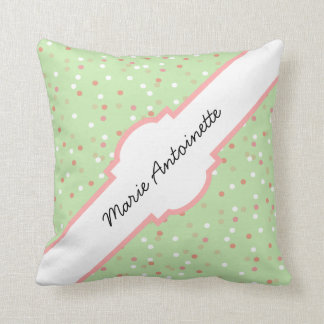 Confetti Cake • Green Buttercream Frosting Throw Pillows