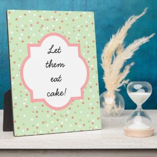 Confetti Cake • Green Buttercream Frosting Plaque
