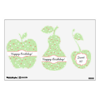 Confetti Cake • Green Buttercream Frosting Room Decal