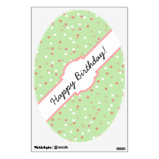 Confetti Cake • Green Buttercream Frosting Wall Graphics