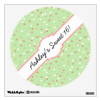 Confetti Cake • Green Buttercream Frosting Room Sticker