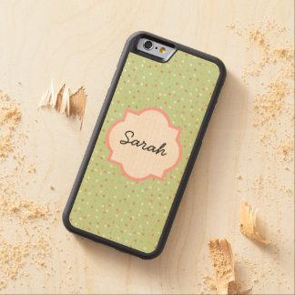 Confetti Cake • Green Buttercream Frosting Carved® Maple iPhone 6 Bumper Case