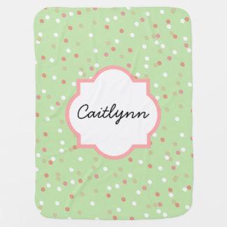 Confetti Cake • Green Buttercream Frosting Swaddle Blanket