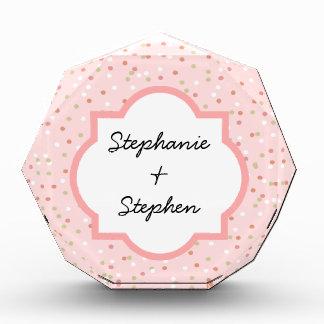 Confetti Cake  • Pink Buttercream Frosting Acrylic Award