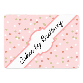 Confetti Cake • Pink Buttercream Frosting Large Business Cards (Pack Of 100)