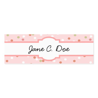Confetti Cake • Pink Buttercream Frosting Double-Sided Mini Business Cards (Pack Of 20)