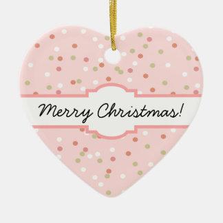 Confetti Cake • Pink Buttercream Frosting Ceramic Ornament