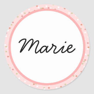 Confetti Cake • Pink Buttercream Frosting Classic Round Sticker