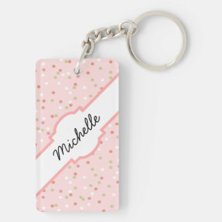 Confetti Cake • Pink Buttercream Frosting Acrylic Key Chains