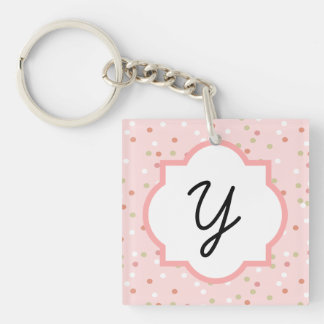 Confetti Cake • Pink Buttercream Frosting Key Chain