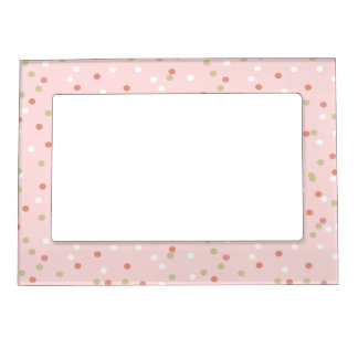 Confetti Cake • Pink Buttercream Frosting Magnetic Picture Frame