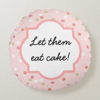 Confetti Cake • Pink Buttercream Frosting Round Pillow