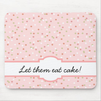 Confetti Cake • Pink Buttercream Frosting Mouse Pad