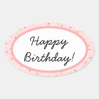 Confetti Cake  • Pink Buttercream Frosting Oval Sticker