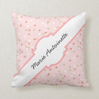 Confetti Cake • Pink Buttercream Frosting Throw Pillow