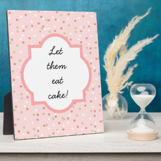 Confetti Cake • Pink Buttercream Frosting Plaque