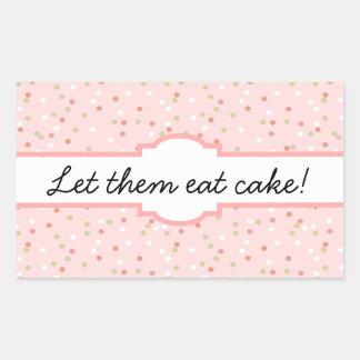 Confetti Cake • Pink Buttercream Frosting Rectangular Sticker