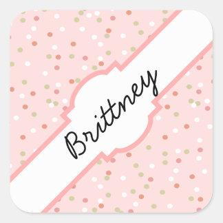 Confetti Cake • Pink Buttercream Frosting Square Sticker