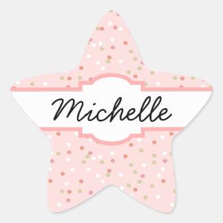 Confetti Cake • Pink Buttercream Frosting Star Sticker