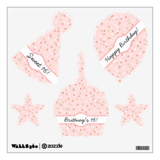Confetti Cake • Pink Buttercream Frosting Wall Decal